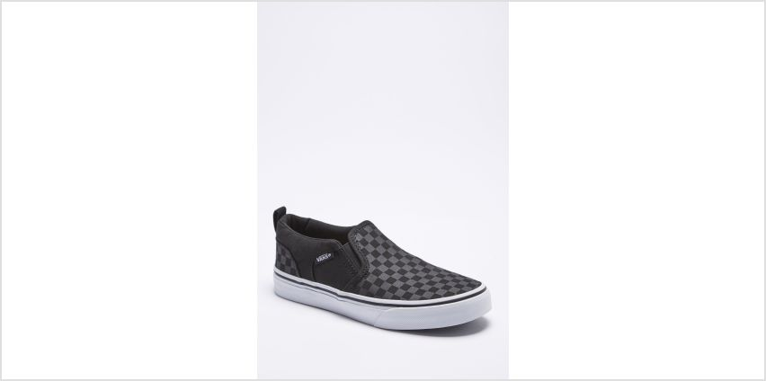 Boys Vans Asher Checker Trainers from Studio