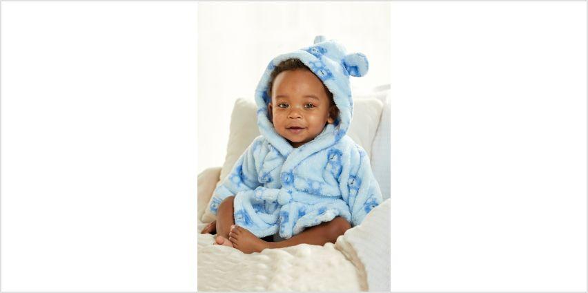 Babys Printed Bear Robe from Studio
