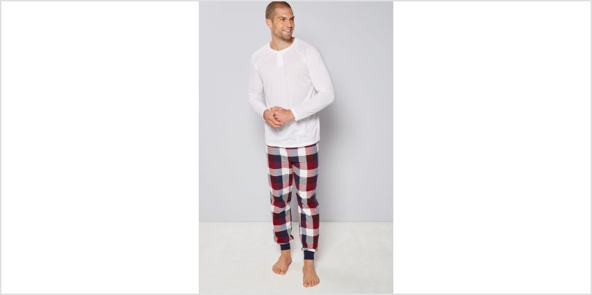 Long Sleeved Pyjama with Flannel Cuffed Pants from Studio