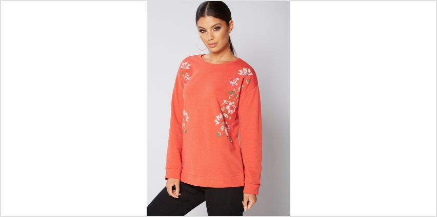 Rubber Print Floral Sweater from Studio