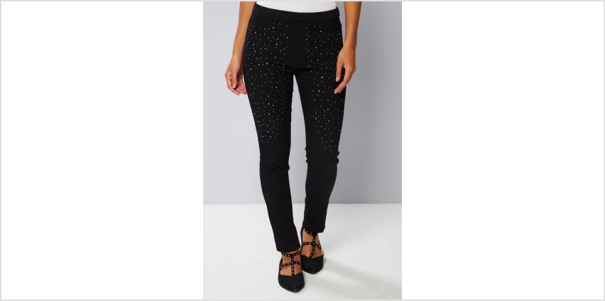 Crystal Embellished Jeggings from Studio