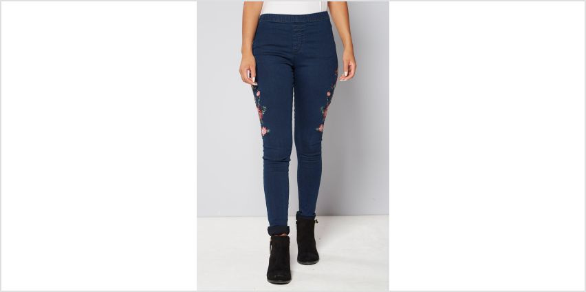 Embroidered Floral Jeggings from Studio