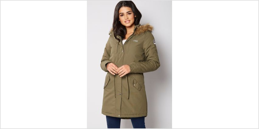 Henleys Avalon Faux Fur Trim Hooded Parka from Studio