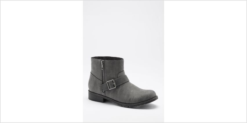 Rocket Dog Brittany Buckle Zip Ankle Flat Boots from Studio