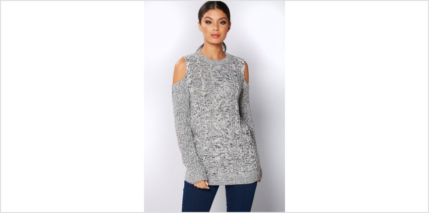 Cold Shoulder Cable Knit Jumper from Studio