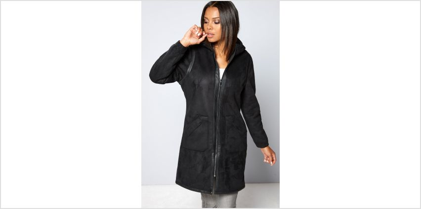 Bellfield Bonded Long Hooded Coat from Studio