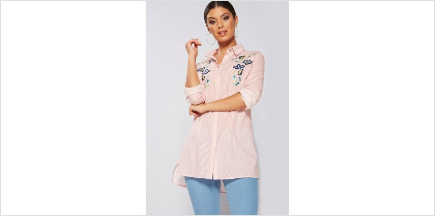 Long Sleeve Embroidered Shirt from Studio