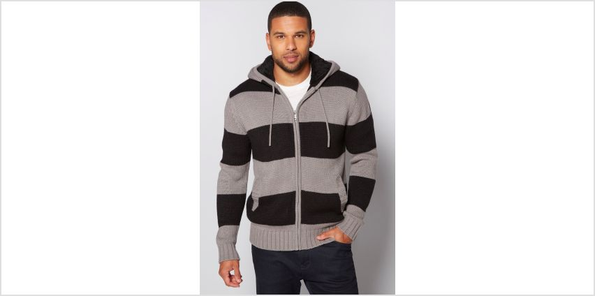 Striped Zip Through Knitted Jumper from Studio