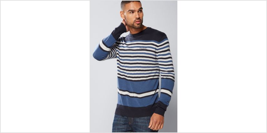 Pierre Cardin Stripe Crew Neck Knitted Jumper from Studio