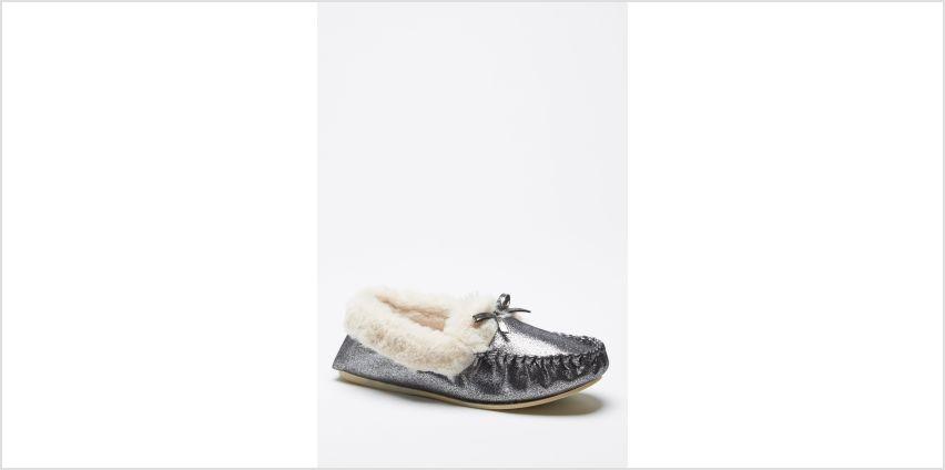 Metallic Moccasin Slippers from Studio