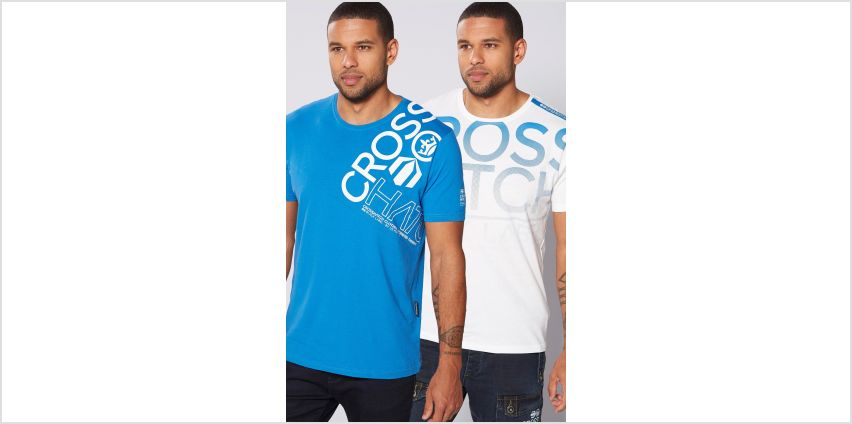 Crosshatch Pack of 2 T-Shirts from Studio