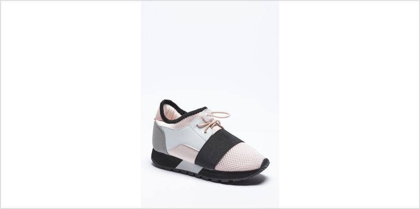 Girls Elastic Strap Trainers from Studio