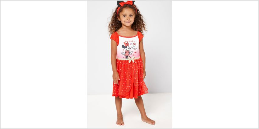 Girls Minnie Mouse Nighty with Headband from Studio