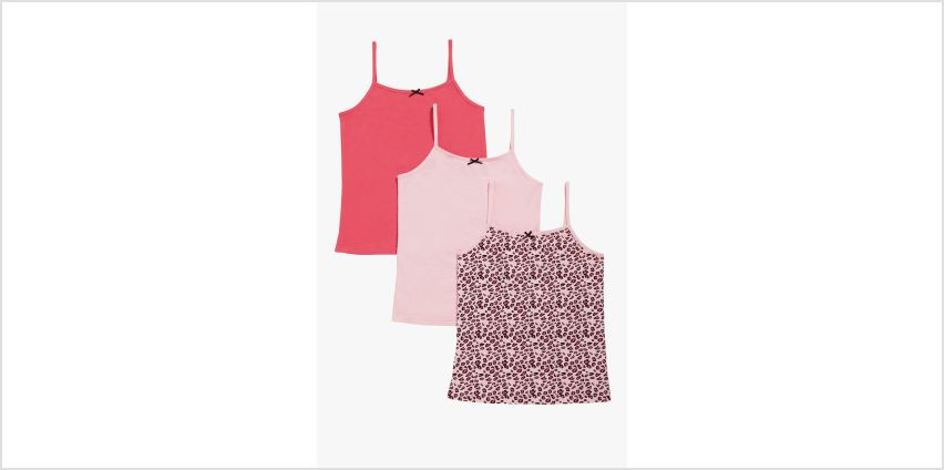 Older Girls Pack of 3 Cami Vest Tops from Studio