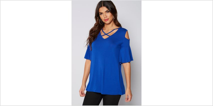 Cold Shoulder Frill Sleeve Top from Studio
