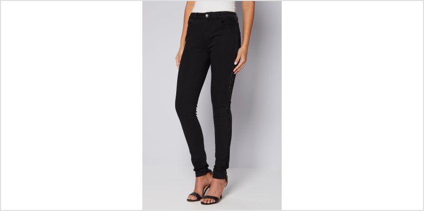 Sparkle Stripe Skinny Jeans from Studio