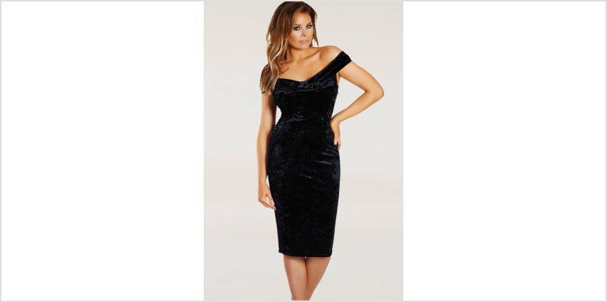 Jessica Wright Velvet Bardot Midi Dress from Studio