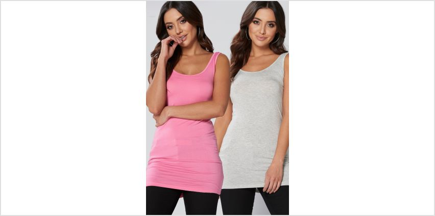 Pack of 2 Plain Longline Vests from Studio
