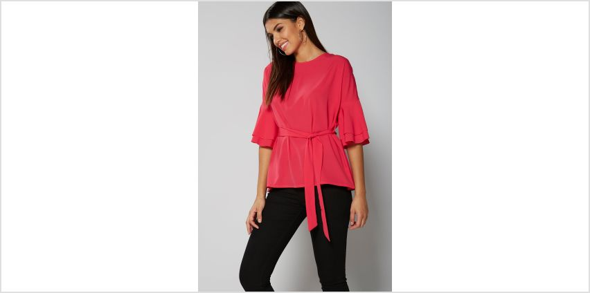 Frill Sleeve Belted Top from Studio
