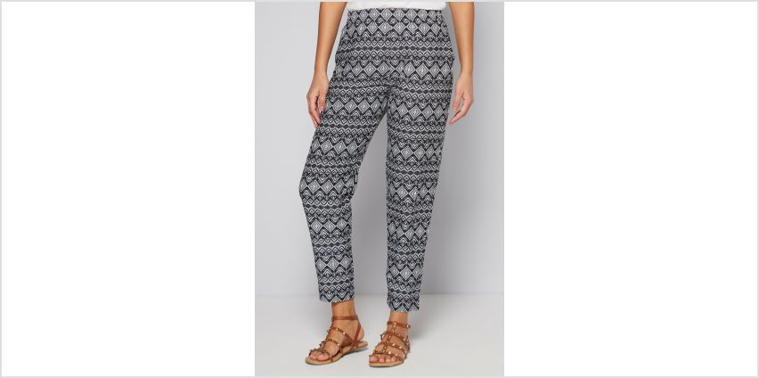 Printed Woven Aztec Print Trousers from Studio