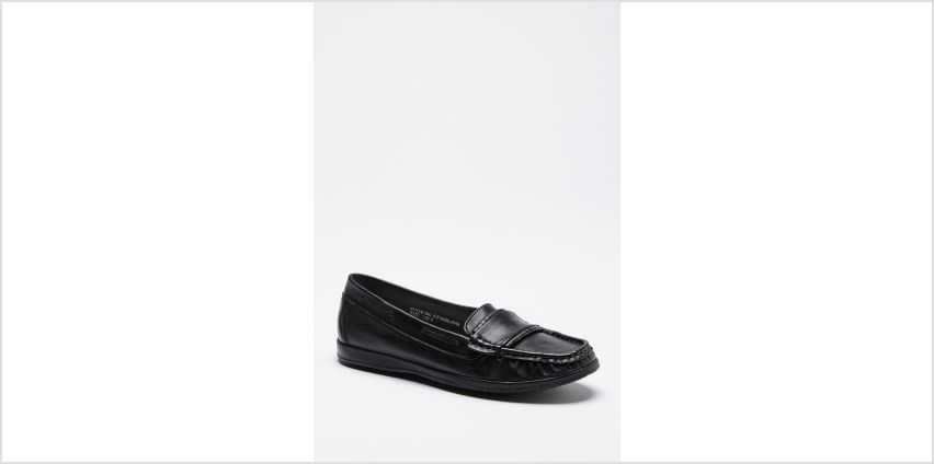 Comfort Plus Leather Moccasin Flat Shoes from Studio