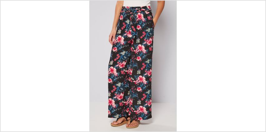 Printed Woven Wide Leg Trousers from Studio