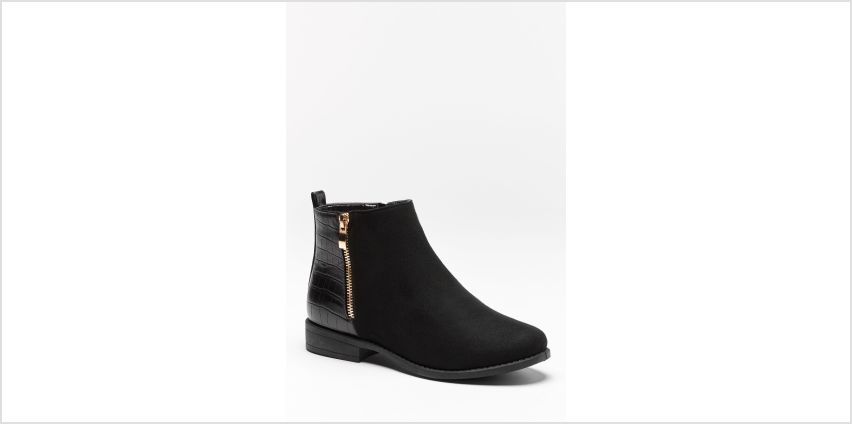 Flat Zip Side Ankle Boots from Studio