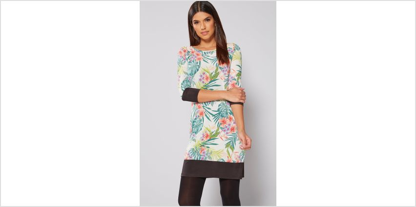 Tropical Printed Tunic Dress from Studio