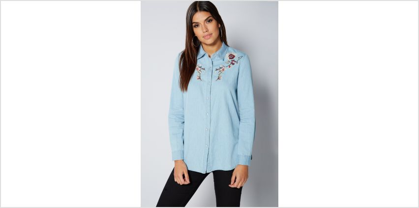 Embroidered Denim Oversized Shirt from Studio