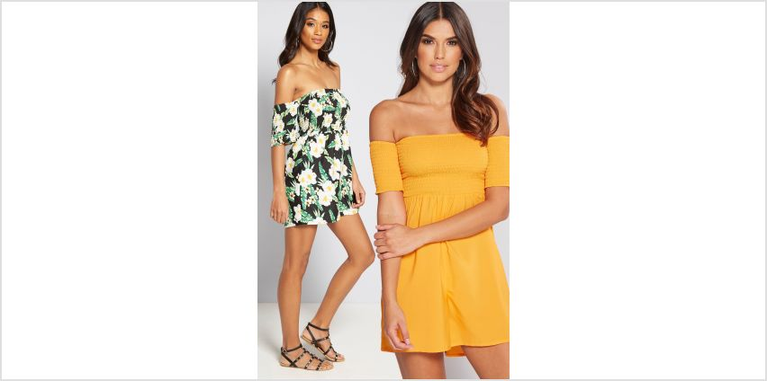 Pack of 2 Floral Shirred Top Playsuits from Studio