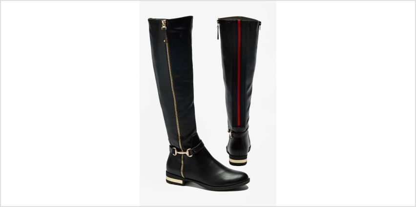 Stripe Back Zip Tall Boots from Studio