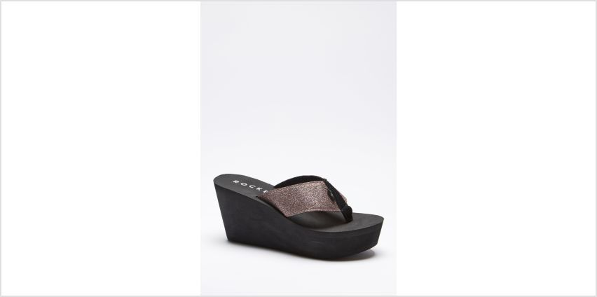 Rocket Dog Diver Glitter Toe Post Wedge Sandals from Studio