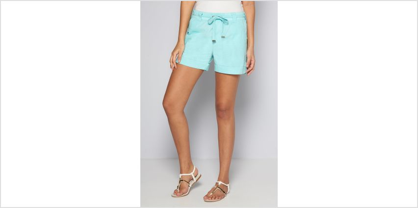 Aqua Poplin Shorts from Studio