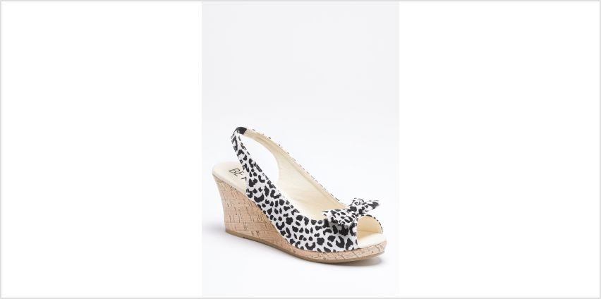 Leopard Print Peep Toe Wedge Shoes from Studio