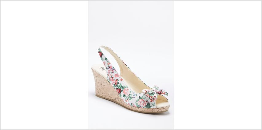 Floral Peep Toe Wedge Shoes from Studio
