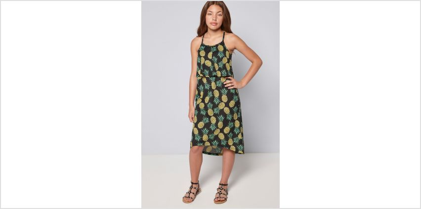 Girls Summer Print Pineapple Maxi Dress from Studio