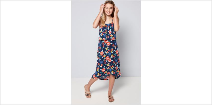 Girls Summer Print Floral Maxi Dress from Studio