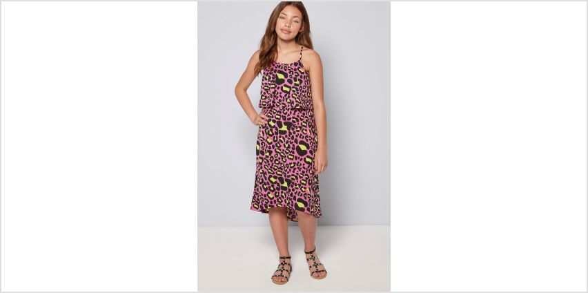 Girls Summer Print Pink Leopard Maxi Dress from Studio