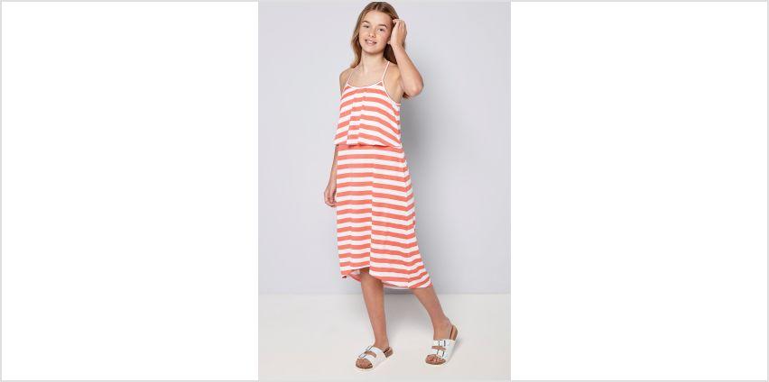 Girls Summer Print Stripe Midi Dress from Studio