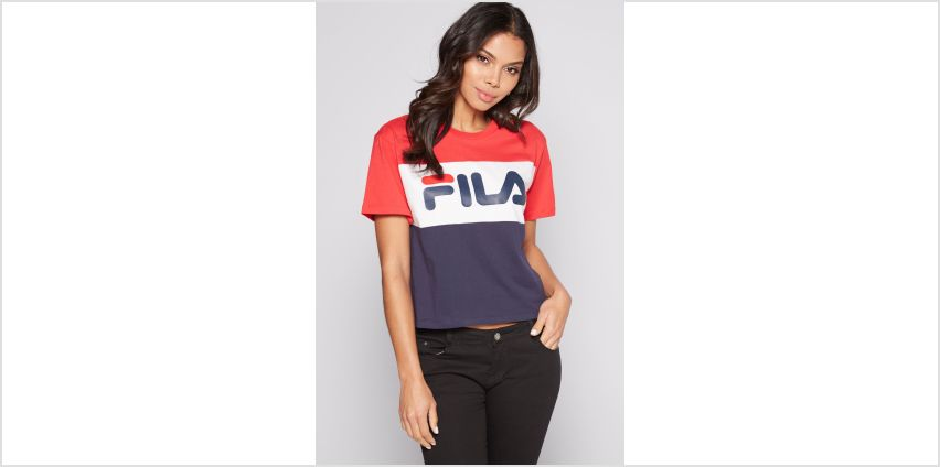 Fila Colour Block Logo T-Shirt from Studio