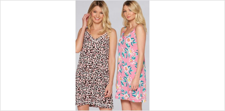 Pack of 2 Floral + Animal Print Nightdresses from Studio