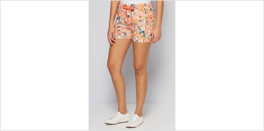 Orange Floral Cotton Poplin Shorts from Studio