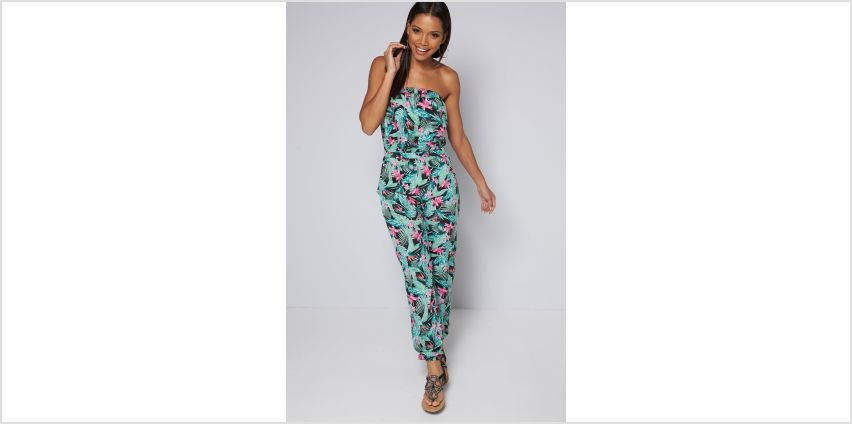Bandeau Tropical Printed Jumpsuit from Studio