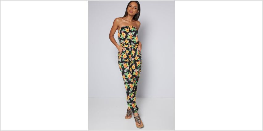 Bandeau Floral Printed Jumpsuit from Studio