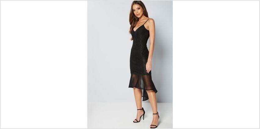 Rare London Mesh Hem Midi Dress from Studio