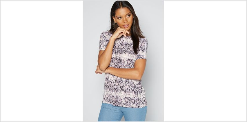 Snake Print Plisse Top from Studio