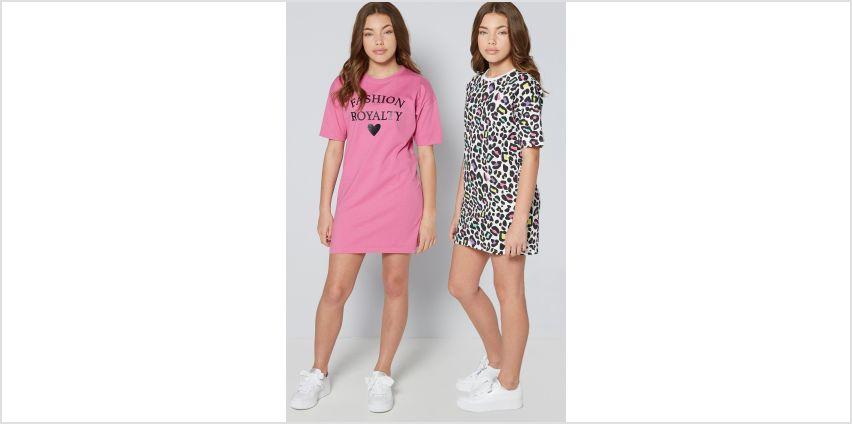Older Girls Pack of 2 Leopard Print Dresses from Studio
