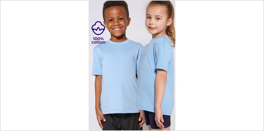 Pack of 2 Unisex Crew Neck Blue T-Shirts from Studio