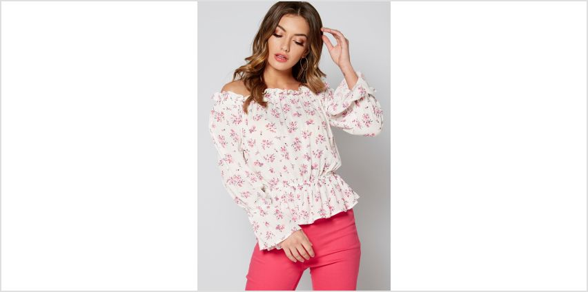 Ditsy Floral Bardot Gypsy Top from Studio