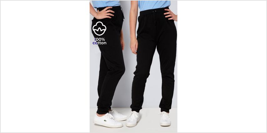 Unisex Pack of 2 Black Joggers from Studio